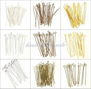 100-pcs-Silver-Golden-Head-Eye-Ball-Pins-Finding-21-Gauge-any-size-to-choose