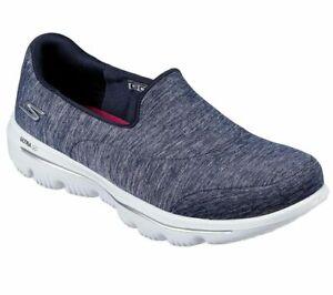 Navy-Go-Walk-Slip-On-Skechers-Shoes-Evolution-Ultra-Women-039-s-Comfort-Casual-15733