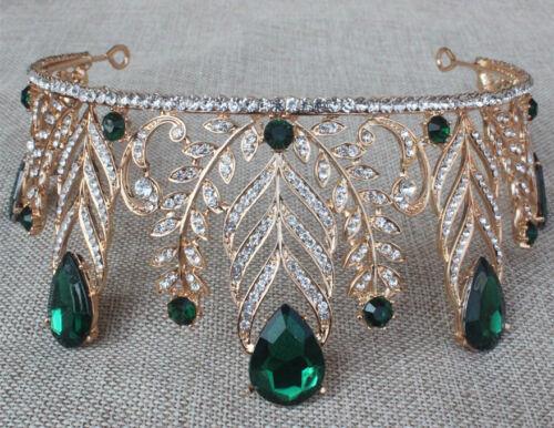 New Pageant Blue Red Tiara Wedding Bridal Rhinestone Crystal Crown Prom Headband