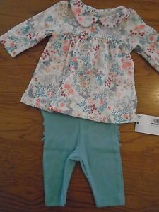 BNWT-baby-girl-2-piece-Marks-amp-Spencer-M-amp-S-outfit-Newborn-7lb-6oz-1-8