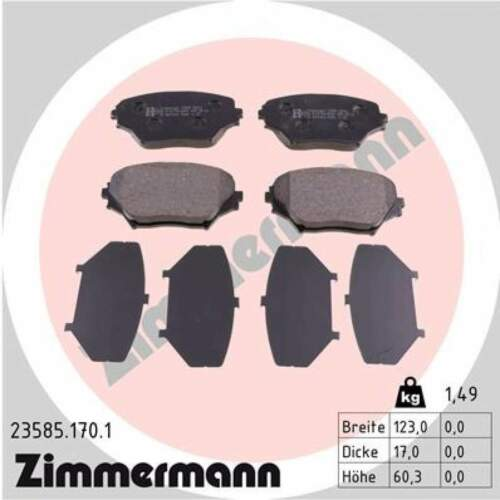 23585.170.1 Bremsbelagsatz Bremsbeläge Bremsklötze ZIMMERMANN