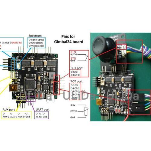 RC HHG-JS Joystick 25mm Tube for Basecam Storm32 Gimbal Controller Board
