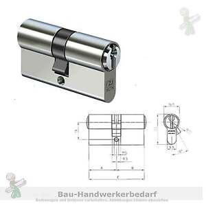 Profiizylinder-IKON-8531-28-30-Typ-SP-65-mit-3-Schluessel-und-Sicherungskarte