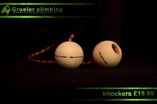 Grueler climbing knockers pull up bar strength pinch grip workout fingerboard