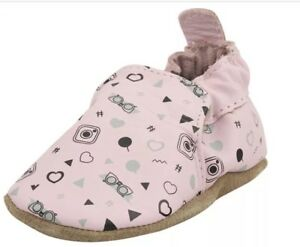 778a061a605a New Robeez  girlygirl Crib Shoe Infant Pastel Pink 6-12 Mos Soft ...