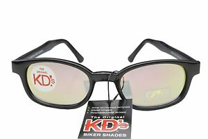 KD's Sunglasses Original Biker Shades Motorcycle Clear Color Mirror 20114
