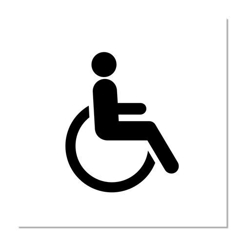 "Handicap Access Symbol Sign 6/"" x 6/"""