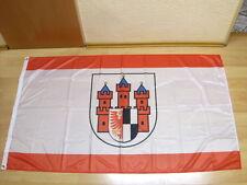 Fahnen Flagge Treuburg 1928 bis 45 Olecko Polen Digitaldruck - 90 x 150 cm