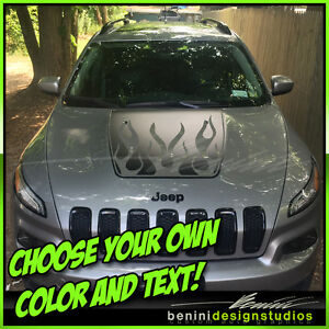 Jeep Cherokee Custom Vinyl Hood Decal Blackout - Custom vinyl hood decals