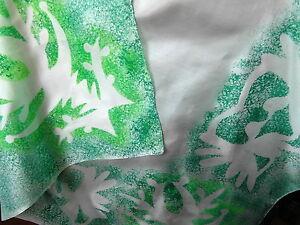 écharpe FOULARD soie peint main 92X88CM@scarf