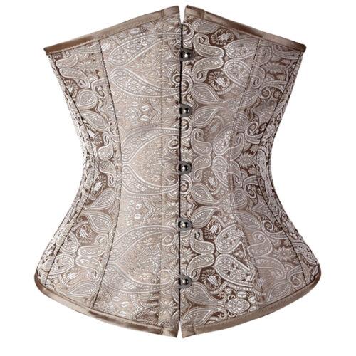 Women/'s Fashion Shaper/'s Lower Chest Corset Buttoned Gothic Corset Boneless UK