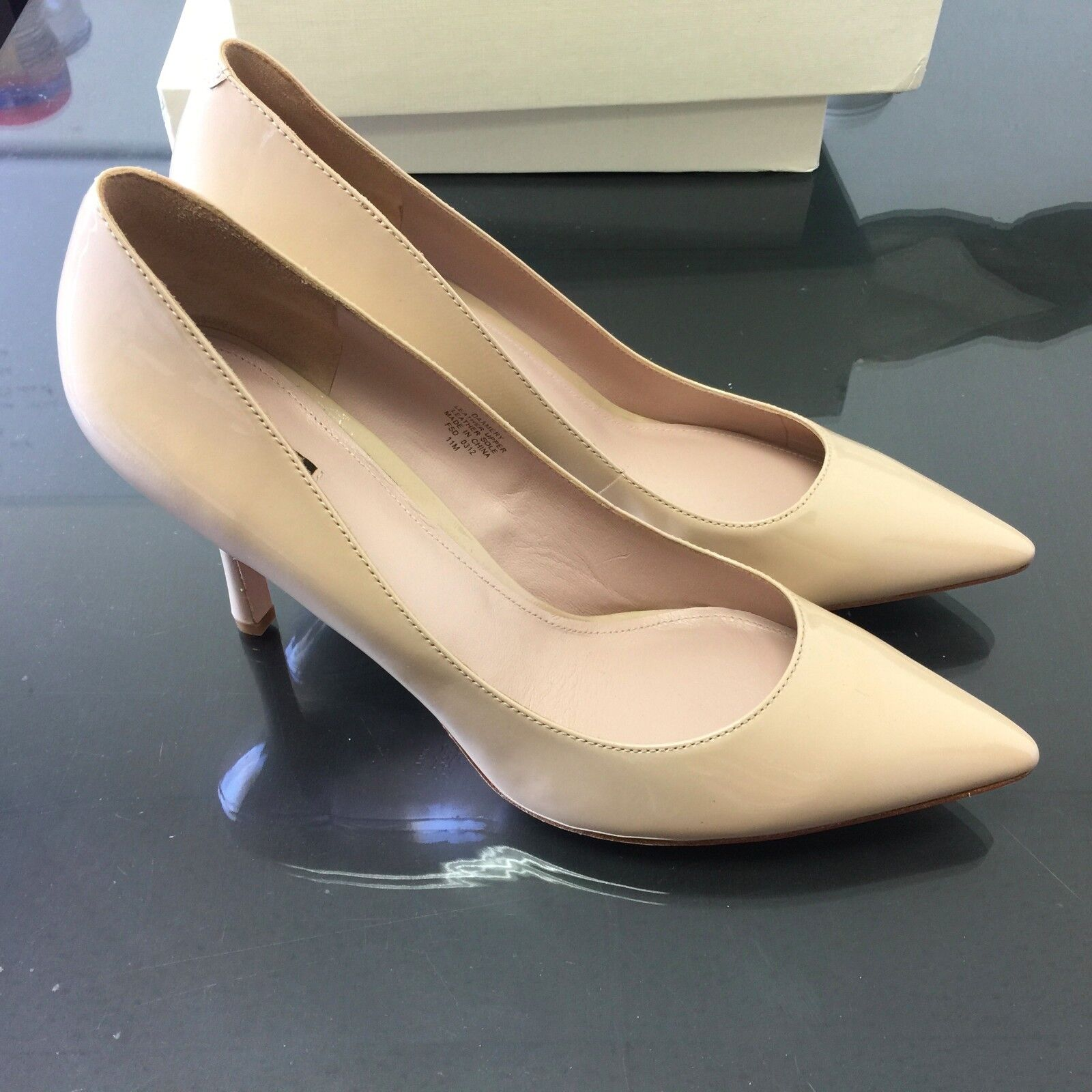 New In Box  Joan & David Amery Women's Women's Women's Natural Patent Leather Pumps 11M 509aeb