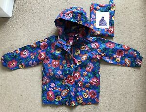big selection retro clearance sale Details about Girl Toddler 3 Years Joules Junior Rain Away Floral Pac A Mac  Waterproof Coat