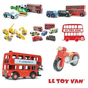 Le-Toy-Van-Vehicles-Wooden-Children-Toys-Educational-Car-Bus-Motorbike-Digger