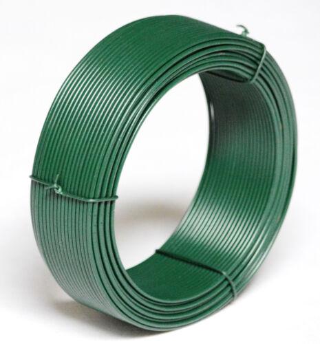 15 m Bindedraht 2 mm grün Draht Zäune Geflecht Zaundraht Maschendrahtzaun Draht