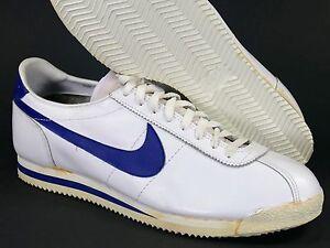 huge discount 9404c 637be A imagem está carregando 1983-Nike-Cortez-Couro-Tamanho-15-Branco-Royal-