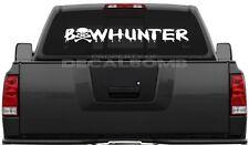Bowhunter Skull Decal Sticker Hunt Diesel Turbo UTV ATV Cross Bow Bones Stand