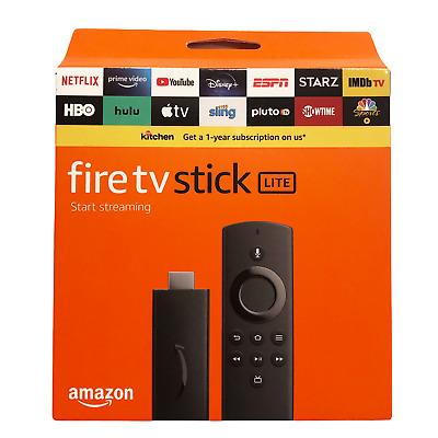 Amazon Fire TV Stick Lite with Alexa Voice Remote Lite ...