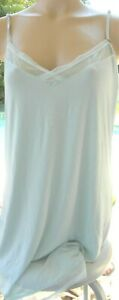 Victorias-Secret-L-aqua-stretchy-comfy-jersey-shine-night-dress-slip-nightgown