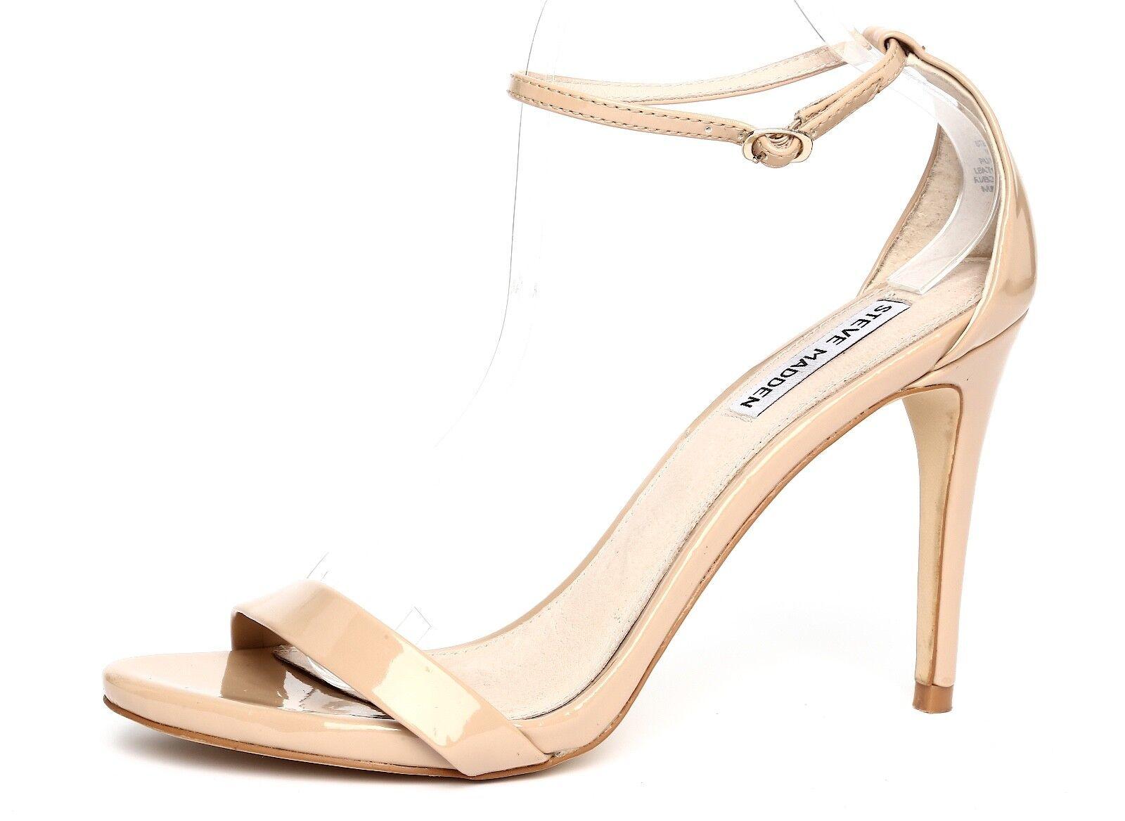 tutti i beni sono speciali Steve Madden Stecy Patent Leather Nude Ankle Strap Sandal Sandal Sandal Heels Sz 10M 1001  garanzia di credito