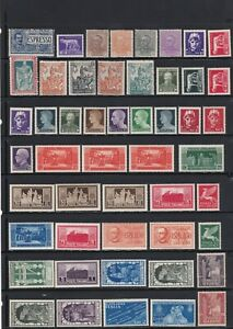 Italy Stamp Mix All Mint Including Overprints As Scans (4 Scans)