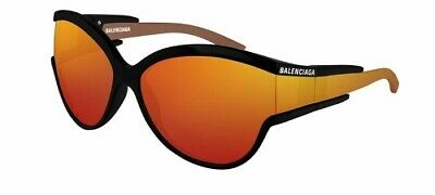 Acquista A Buon Mercato Balenciaga Bb0038s 63 004 Sunglasses Black Orange Arancio Occhiale Sole