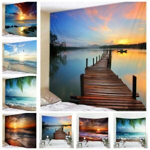 Sea-Sunset-Landscape-Tapestry-Home-Wall-Hanging-Decor-Art-Scenery-Print-Tapestry
