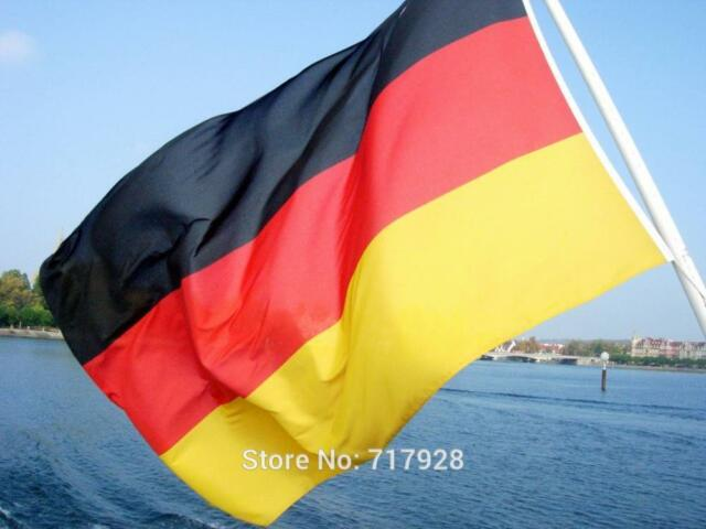 wave 3x5 feet super poly german flag country germany football banner