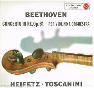 Toscanini: Beethoven; Konzert Für Violine / Jascha Heifetz - LP Lct 1010