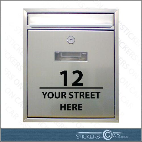 MAILBOX  POST CUSTOM vinyl sticker lettering House Number /& Street Address Decal
