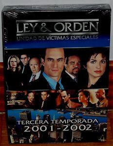LEY Y ORDEN 3ª TEMPORADA COMPLETA  6 DVD NUEVO PRECINTADO SERIE (SIN ABRIR) R2