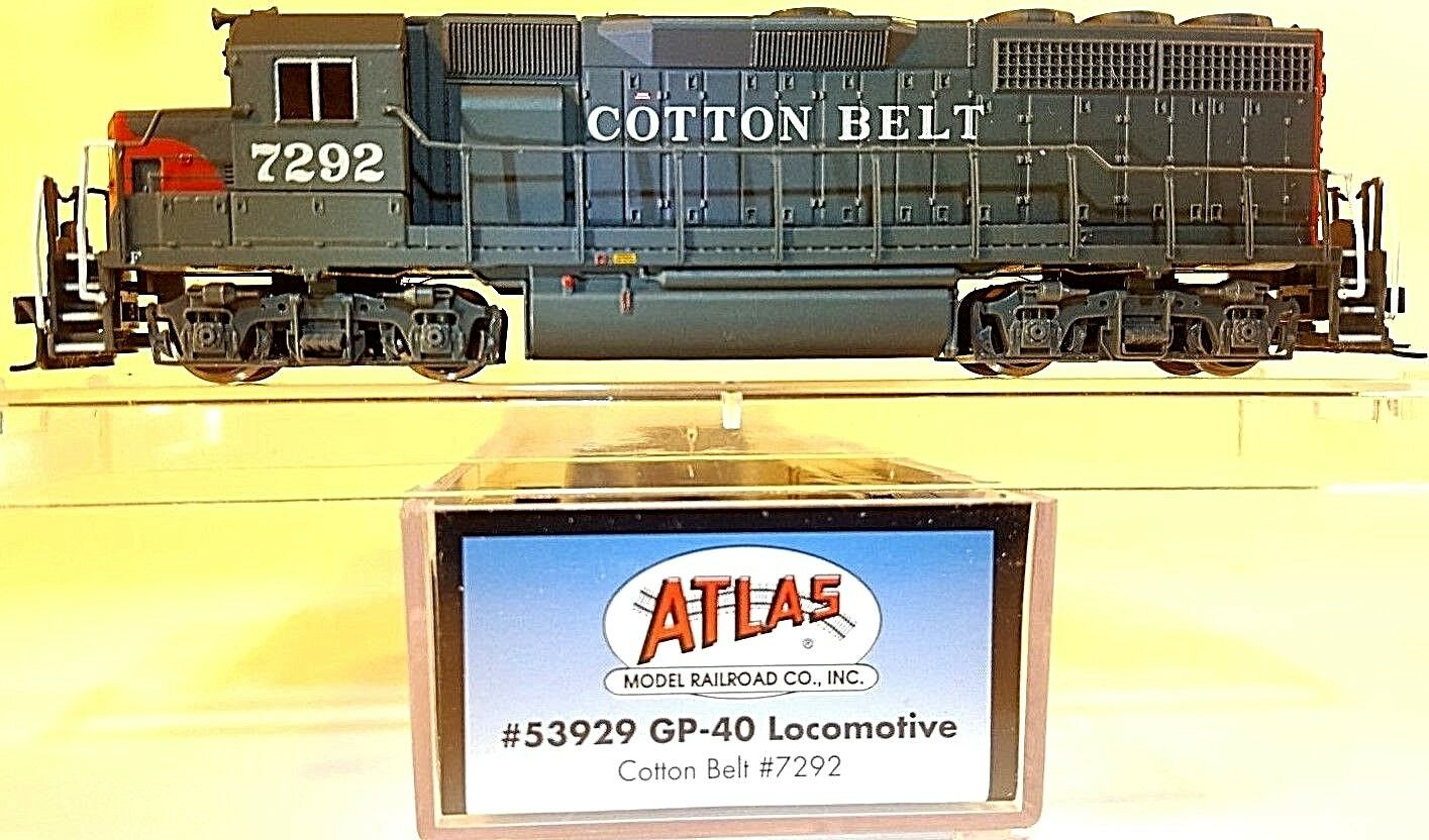 N ATLAS 53929 GP-40 Cotton Belt Locomotive  7292  DCC Ready   Tested