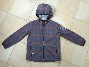 competitive price 7a38b b8264 Details zu Softshelljacke Jacke Killtec Jungen braun-blau Gr. 128  brethable/waterres.