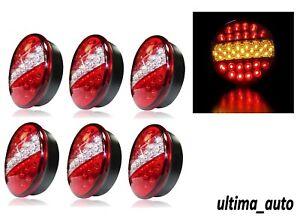 3X-Paire-12V-Arriere-Lumieres-LED-Feux-Stop-Clignotant-3-Fonction-Tracteur