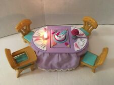 Fisher Price Loving Family HOLIDAY LIGHTS SOUNDS DINING TABLE & CHAIRS - Music!
