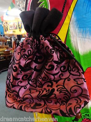 Beautiful Funky Bright Coloutful Print Side Bag Pouch With Draw Strings RRP $10