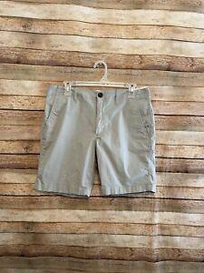 Marine-Layer-Mens-Walk-Shorts-Gray-Flat-Front-Chino-Size-32-8-034-Inseam-California