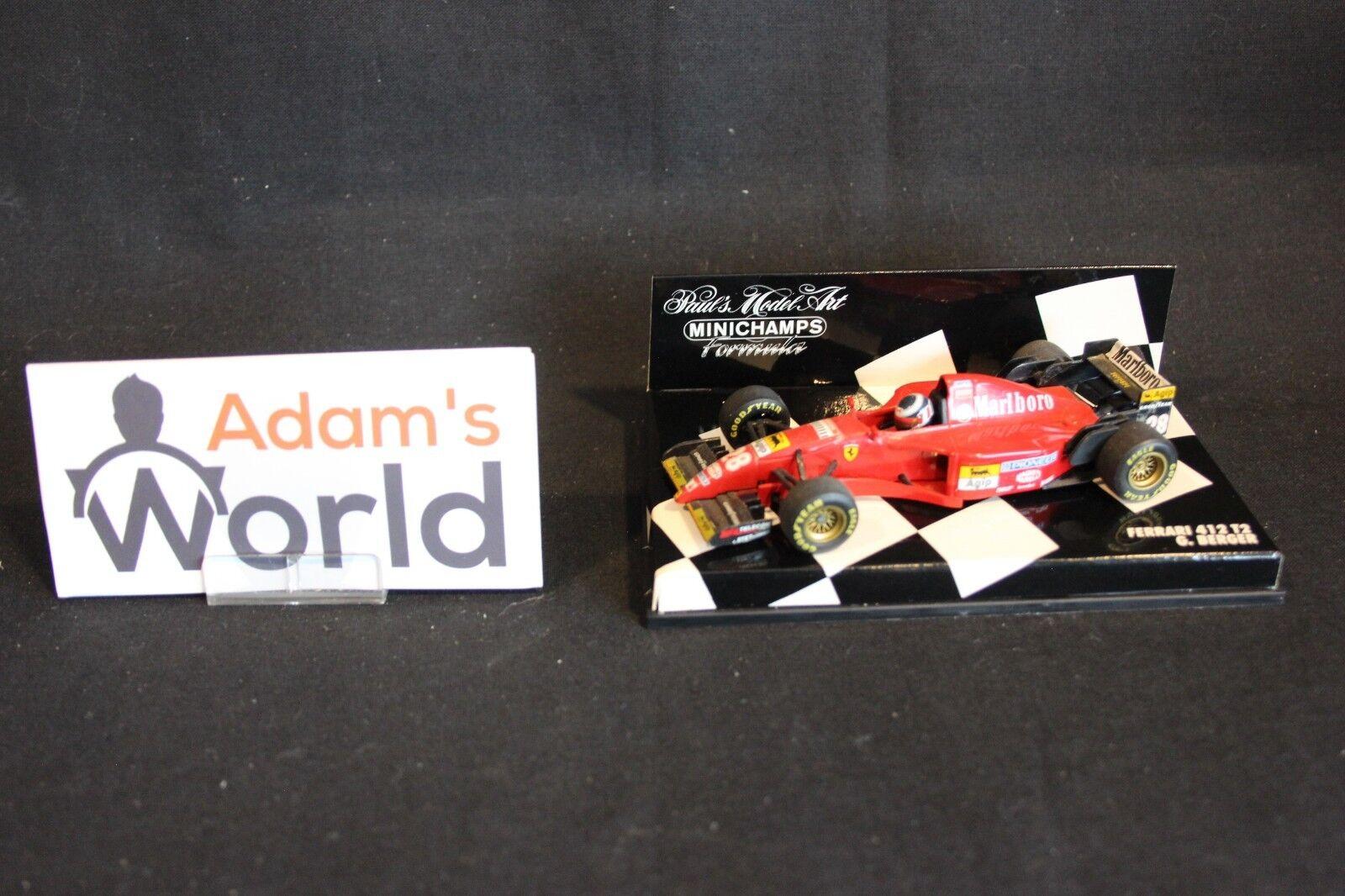 Minichamps Ferrari 412 T2 1995 1 43  28 Gerhard Berger (AUT) (MM1) Marlbgold
