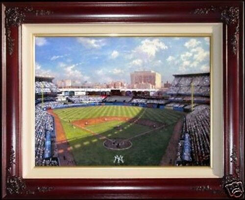 Thomas Kinkade DBL SIGNED Yankee Stadium Baseball Sketch 18x24 G/P Canvas