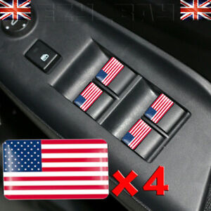 Drapeau-USA-Logo-x4-Stickers-Americain-Direction-Badge-pour-Chevrolet-Ford