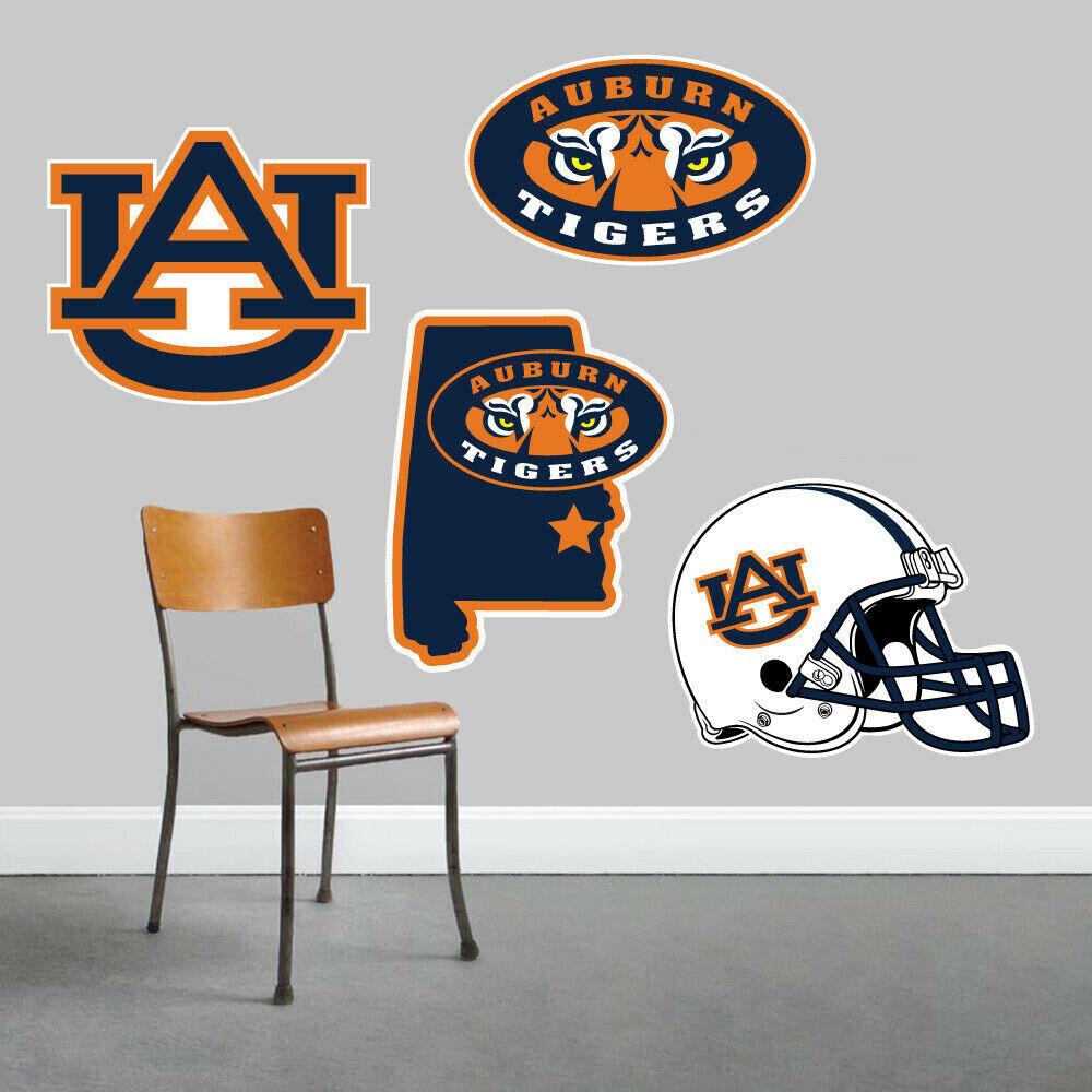 Auburn University Tigres parojo arte conjunto de 4 piezas de gran tamaño --- nuevo