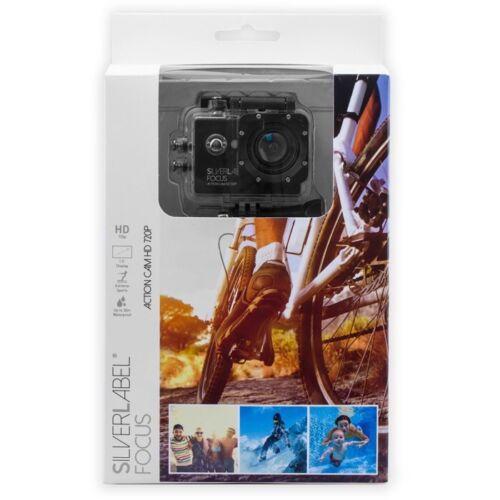 "Etiqueta de plata enfoque Acción Cámara HD 720p con libre 20/"" Palo Para Selfie Pov Pole//"
