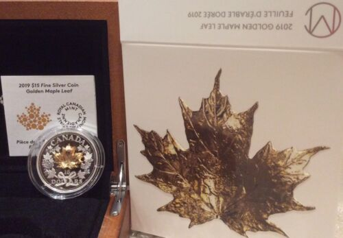 2019 Golden Maple Leaf 3-D Exclusive Masters Club $15 Silver Proof Coin Canada