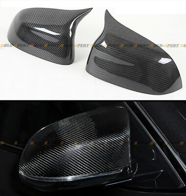 FOR 2015-2018 BMW X3 X4 X5 X6 CARBON FIBER SIDE MIRROR COVERS CAPS REPLACEMENT