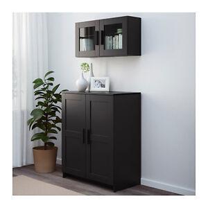 Armadio Ikea Brimnes 2 Ante.Ikea Brimnes Mobile Con Ante Nero 78x95 Cm Ebay