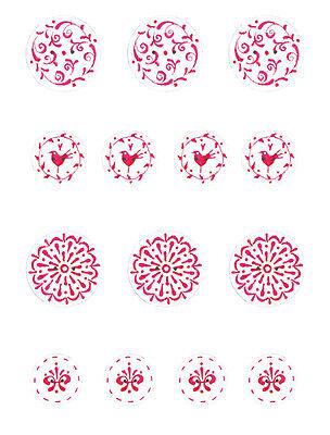 *TILDA*Button Set*Deko Buttons* Knöpfe*Zierknöpfe*Kreise*Blumen*