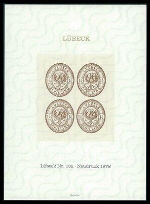 LÜbeck Nr Diverse Philatelie Deutschland 13 A Offizieller Neudruck Tadellos H0935 StäRkung Von Sehnen Und Knochen