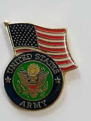 USA Flag United States Army Lapel Hat Cap Pin Military Tie Tac FAST SHIPPING #3s