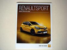 Renault . Renault Sport . April 2014 Sales Brochure