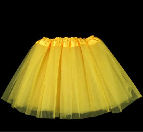 Girls Kid TUTU Skirt Short Net Costume Fancy Tulle Dress Up Party 3 Layers Skirt